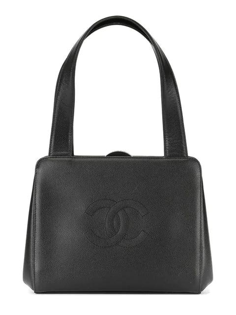 Chanel Pre Owned Cc Sch Handbag Black