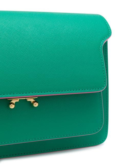Marni Trunk Medium Shoulder Bag - Green