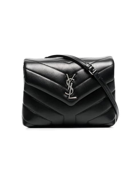 b6009d609db3d Saint Laurent Toy Loulou Strap Bag In Black