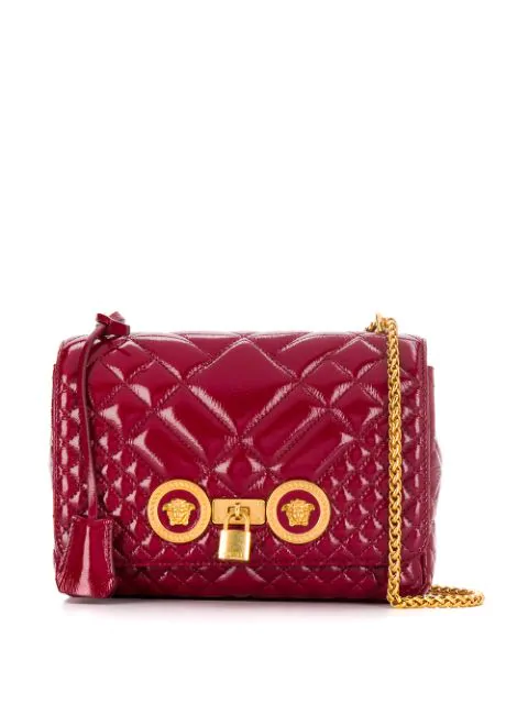 Medusa Foldover Shoulder Bag In Red
