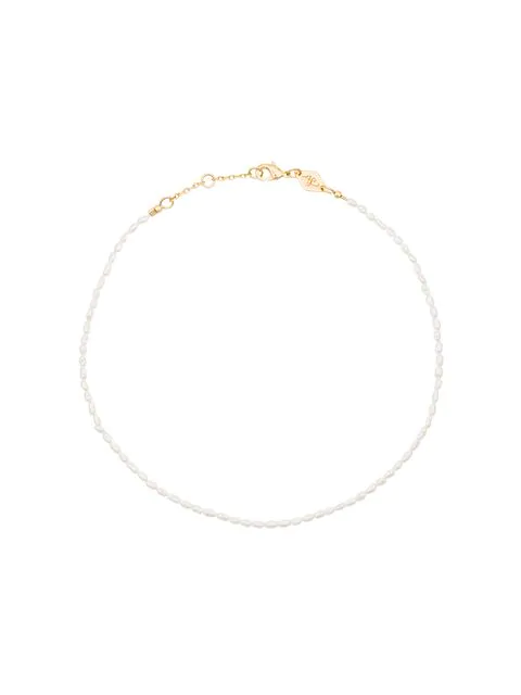 Anni Lu Wave Pearl Anklet - White