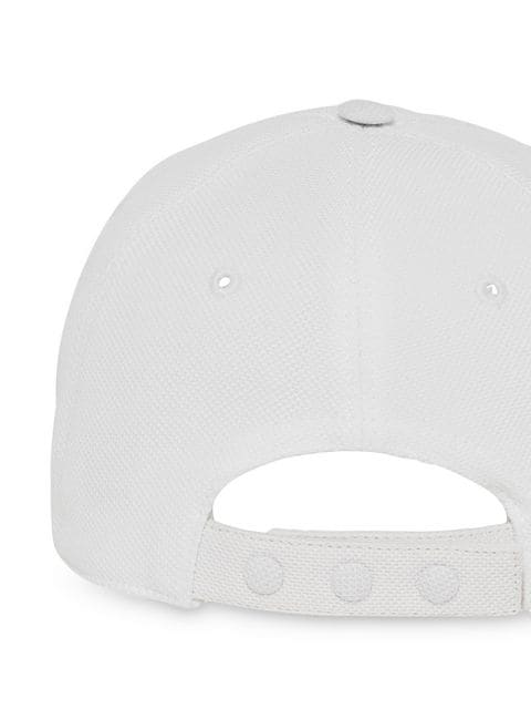 Burberry Monogram Pique Baseball Cap In White