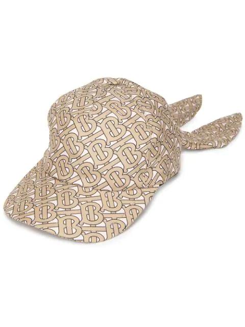 75622f5a06202 Burberry Foulard Monogram-Print Silk Baseball Cap In Beige | ModeSens