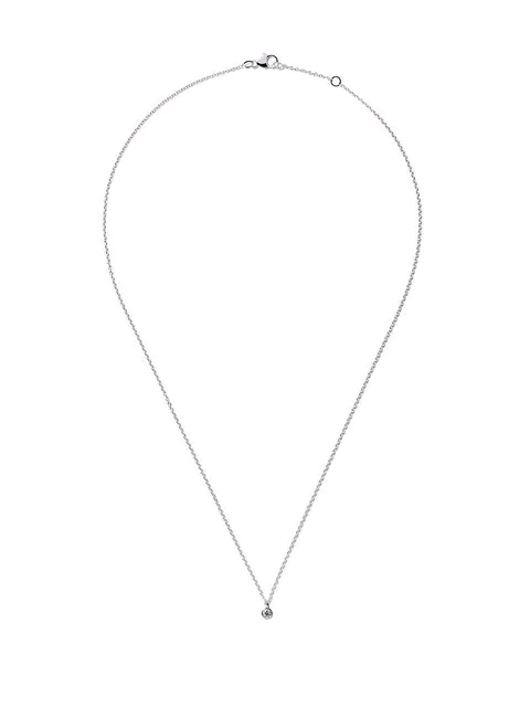 e6c06f93f6826 De Beers 18Kt White Gold My First De Beers One Diamond Pendant Necklace