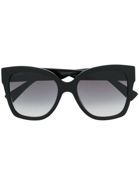 2790c8b76 Gucci Eyewear Oversized Cat Eye Sunglasses - Black In 001 Black ...