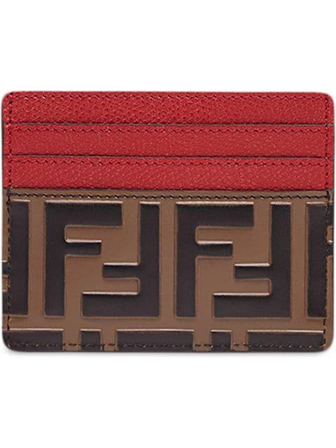 744dda67 Ff Logo Card Holder in Brown