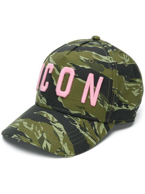 DSQUARED2 ICON CAMOUFLAGE LOGO BASEBALLKAPPE HAT BASEBALL CAP EMBROIDERED NEW