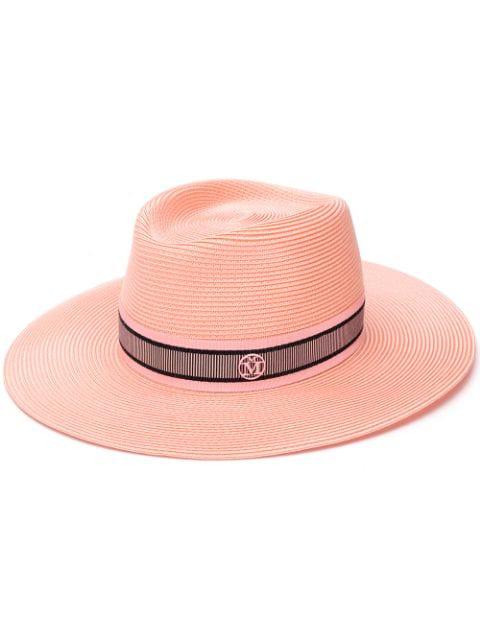 03e5aea3c Maison Michel Charles Fedora Hat - Pink