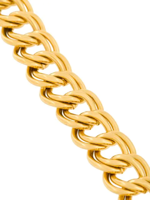 Givenchy Pre-Owned 1980S Double Chain Link Bracelet - Metallic