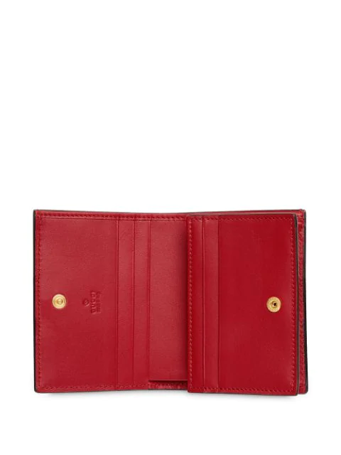 5f5961c7fa Ophidia Snakeskin Card Case Wallet in 6433 Rosso