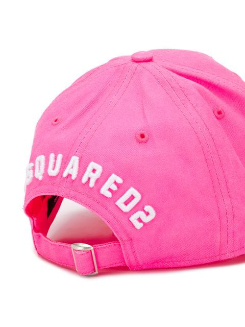 26f18d100 Embroidered Icon Logo Gabardine Baseball Cap in Pink