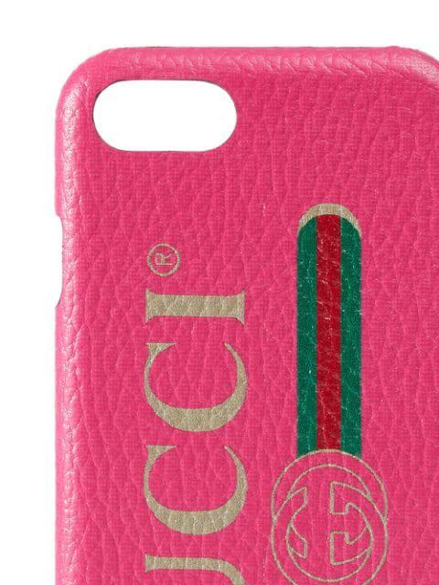 Gucci Print Iphone 8 Case In 8811 Fuchsia