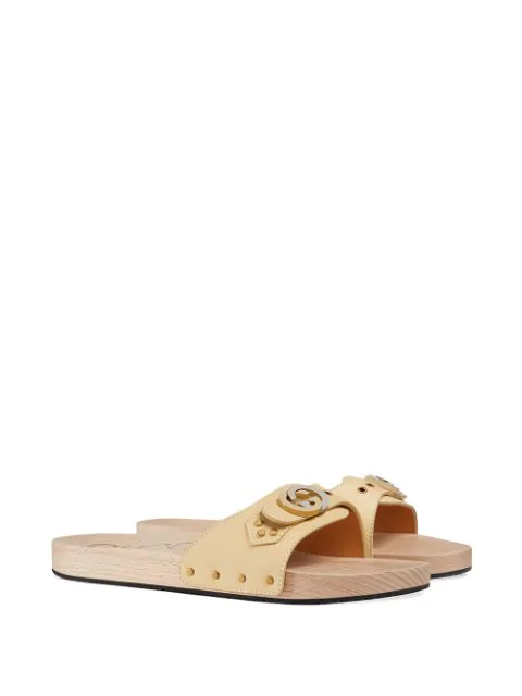 GUCCI LEATHER SLIDE SANDAL