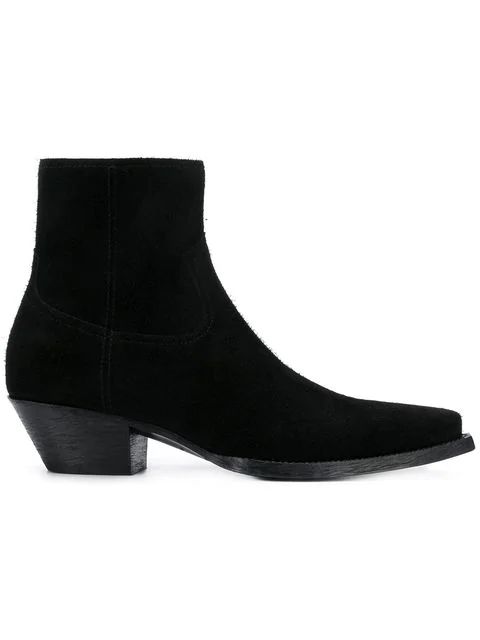 d18c08c347a Saint Laurent 30Mm Theo Raw Cut Suede Ankle Boots In Black | ModeSens