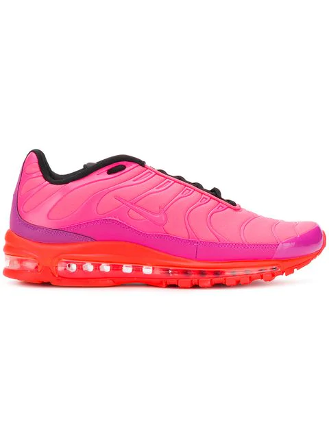 Nike Men S Air Max 97 Plus Casual Shoes Pink Red Modesens