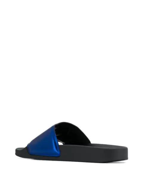 Versace Slide Medusa Sandals In Blue
