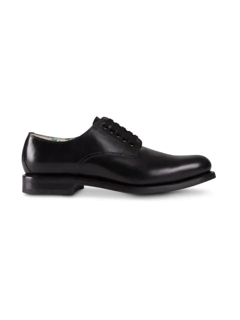GUCCI LEATHER LACE-UP SHOE