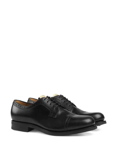 GUCCI PERFORATED LEATHER BROGUES