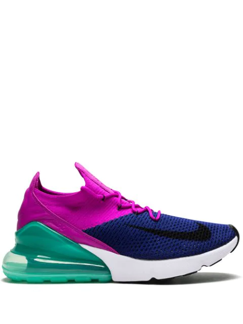 separation shoes 66b7f a2adc Air Max 270 Flyknit Sneakers in Blue