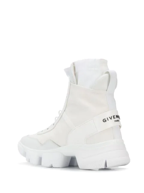 Givenchy Jaw Nylon Sock High Top Sneakers In White