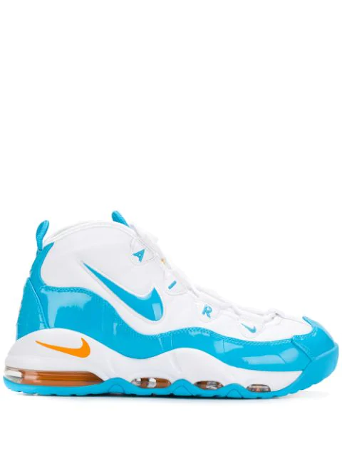 sports shoes 8a3f5 8e0c2 Air Max Uptempo 95 Blue Fury Trainers in White