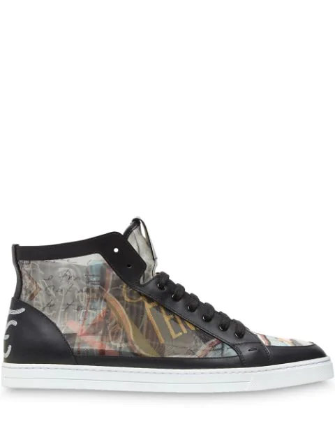 f3044ec51a Men's Karl Lagerfeld Graphic High-Top Sneakers in Multicolour