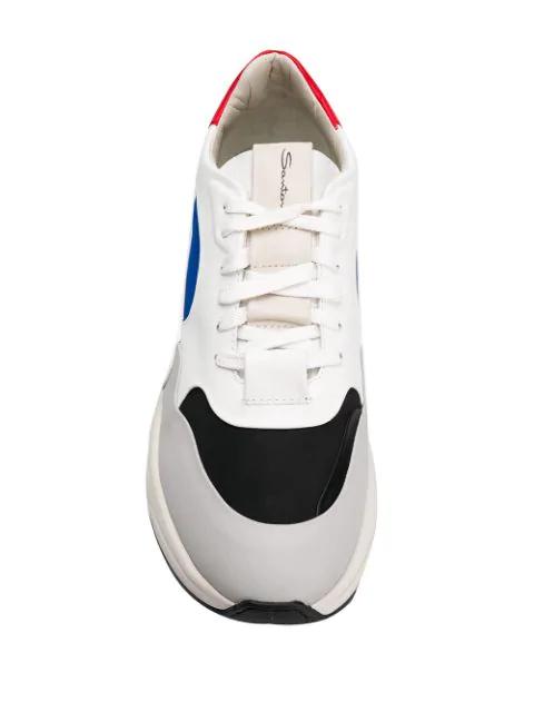 White Colour Sneakers Weiß Santoni Block In Optik sdCBQrothx