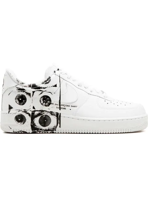 new concept 3e7a8 6cf56 Air Force 1 '07/ Supreme/ Comme Des Garçons Sneakers in White/White-White