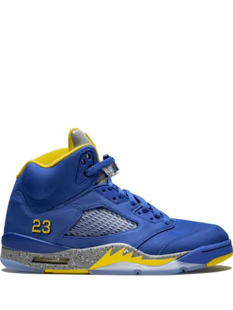 cheap for discount fd251 b67d5 Air Jordan 5 Retro Sneakers in Blue