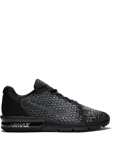 Biblioteca troncal inalámbrico Aliviar  Nike Air Max Sequent 2 Sneakers - Black | ModeSens