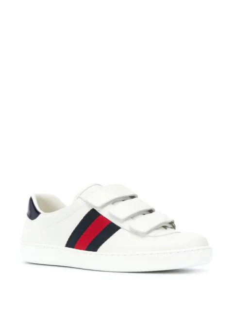 Gucci Ace Touch Fastening Sneakers In White