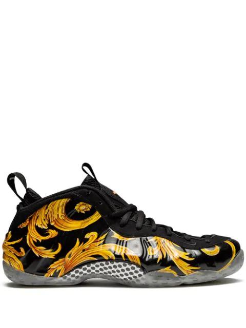 size 40 a2c56 11206 Air Foamposite 1 Supreme Sp Sneakers in Black/Black-Metallic Gold