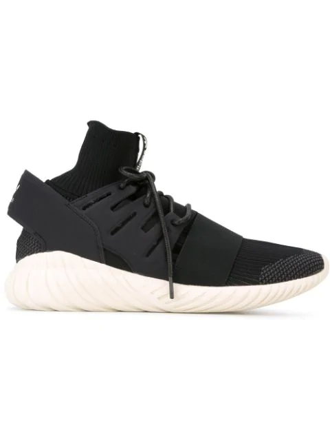 online store 8c02f e67d6 Tubular Doom Primeknit Sneakers in Black