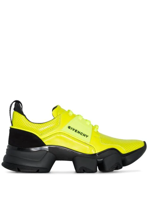 Givenchy Men's Jaw Leather Runner Sneaker In Yellow