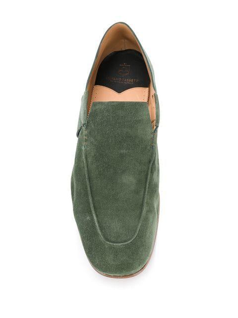 Green Silvano Detail Slip On Shoes Stitch Sassetti 0yvNwOnm8