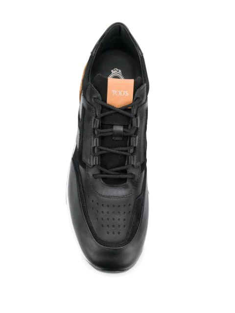 Leather Trainers Nerocaramello Runner Sportivo Lux Kq9 In eEHYD9IW2