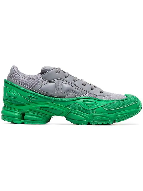 cheap for discount 251e5 c6772 Adidas X Raf Simons Ozweego Colour-Block Leather Trainers in Grey