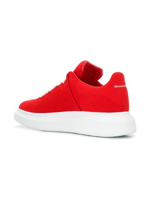 Alexander Mcqueen Men's Knitted Oversized Low-Top Sneakers, Red