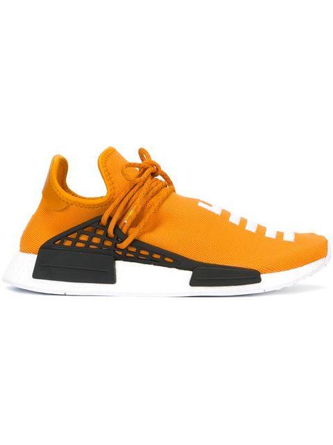 buy popular c6611 a09f2 Adidas Originals X Pharrell Williams 'Hu Race Nmd' Sneakers in Orange