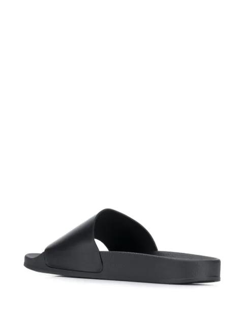 Off-White Double Arrow Tech Rubber Slide Sandals In Black