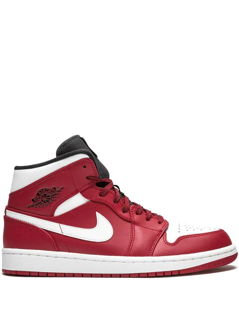 finest selection 0be06 5d166 Air Jordan 1 Mid Sneakers in Red
