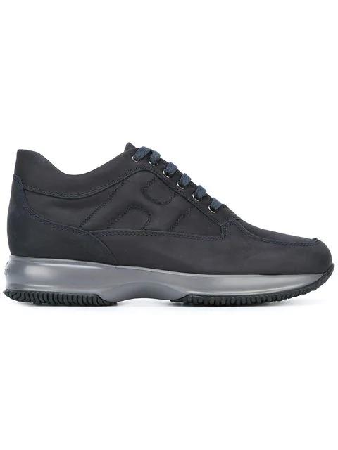 Hogan Interactive Blu Nubuk Sneakers In Blue | ModeSens
