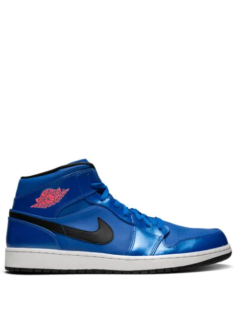 Jordan Air 1 Mid High Top Sneakers In Blue Modesens
