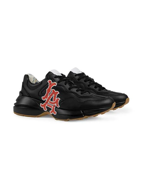 Gucci Men's Rhyton Sneaker With La Angels&Trade; Print In Black