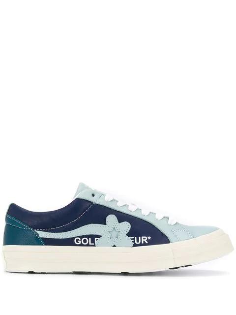 Converse X Golf Le Fleur Ox Sneaker In Blue Modesens