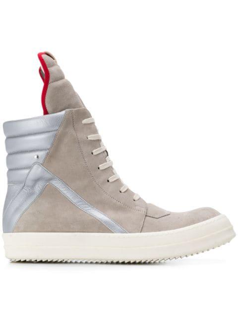 info for fb16a 4f43e Beige & Silver Geobasket Sneakers in 0818 Pearl/Silver