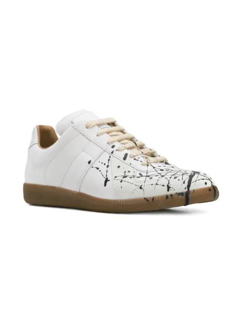 fc8eec80c1a Paint Splatter Sneakers in White