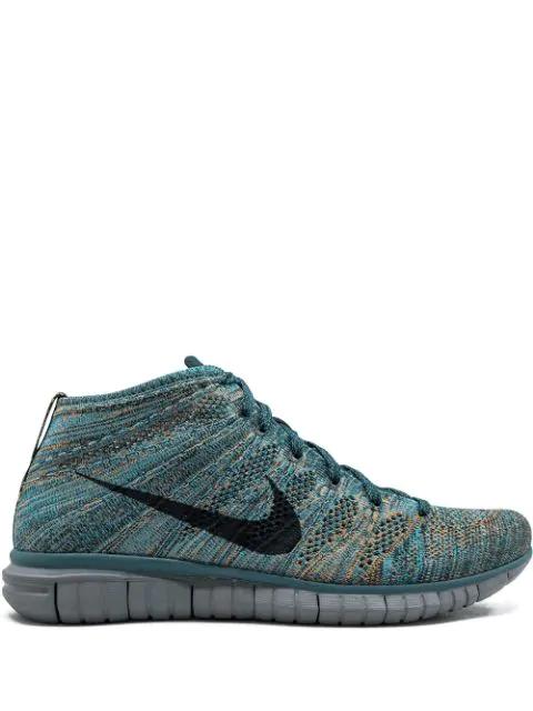 Nike Free Flyknit Chukka Sneakers Blau In Blue Modesens
