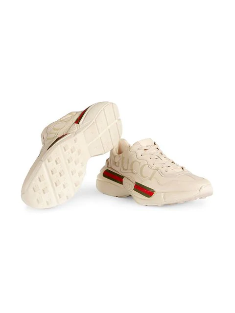 GUCCI Rhyton fake logo leather sneakers,500877DRW0012562683