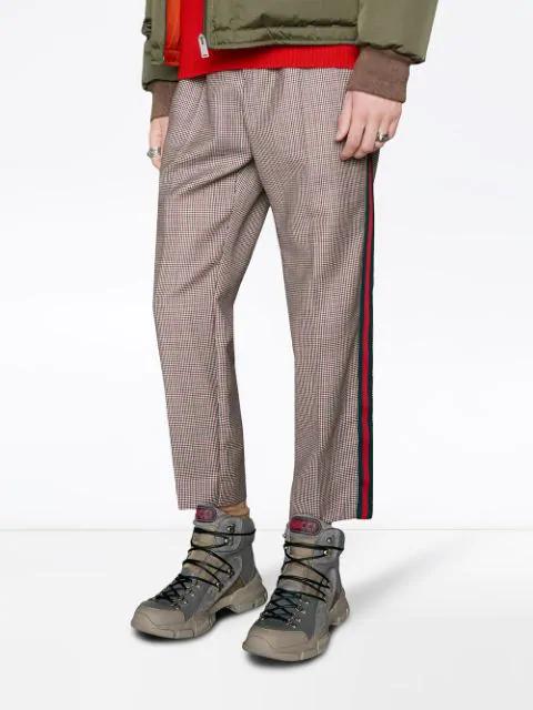 Gucci Flashtrek High-Top Sneaker In Grey